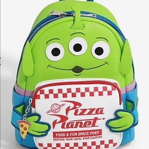 Loungefly Toy Story Pizza Planet Alien Backpack.
